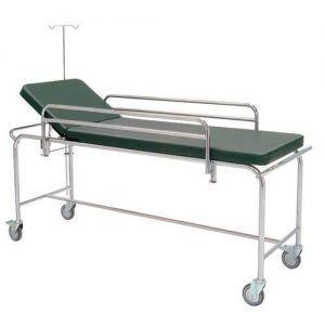 Carro camilla de urgencias de acero cromado