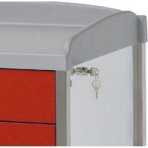 Cerradura manual con llave