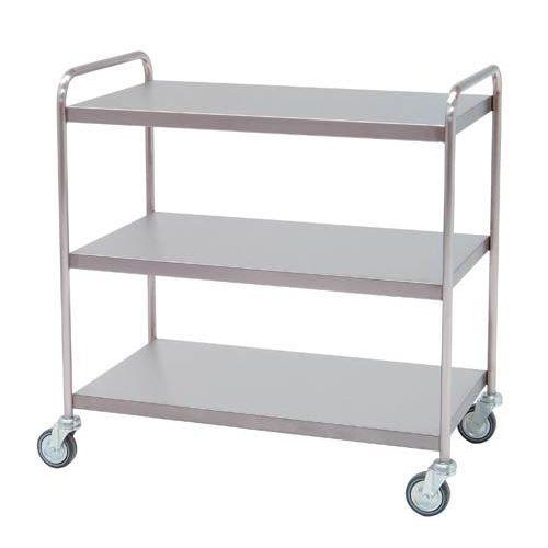 Carro para distribución con 3 estantes lisos