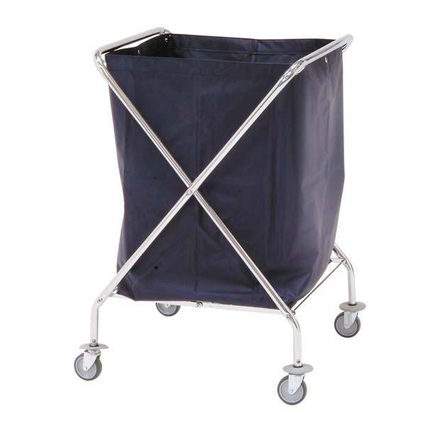 Carro de ropa sucia plegable, saco desmontable, protección anti golpes