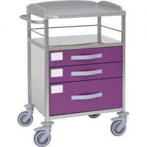 Carro hospitalario multifuncional con 3 cajones inferiores