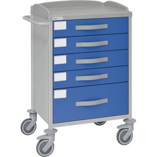 Carro hospitalario multifuncional con 5 cajones