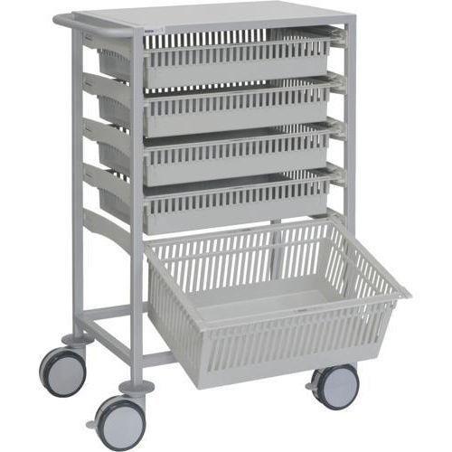 Carro multifuncional con 5 cestas ISO incluidas