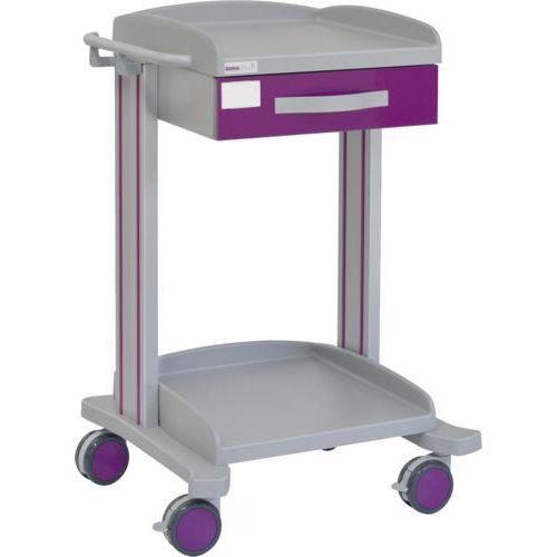 Carro hospitalario multifuncional con 1 cajón superior y bandeja inferior