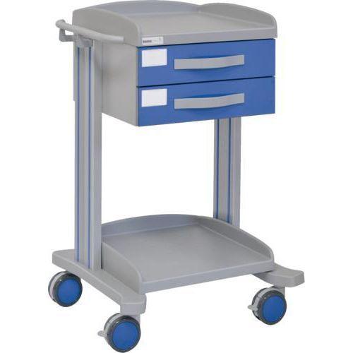 Carro hospitalario multifuncional con 2 cajones superiores y bandeja inferior