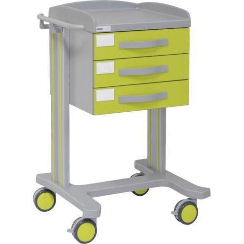 Carro hospitalario multifuncional con 3 cajones superiores