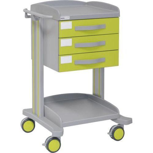 Carro hospitalario multifuncional con 3 cajones superiores y bandeja inferior