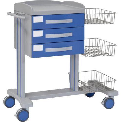 Carro hospitalario multifuncional con 3 cajones superiores y 3 cestas