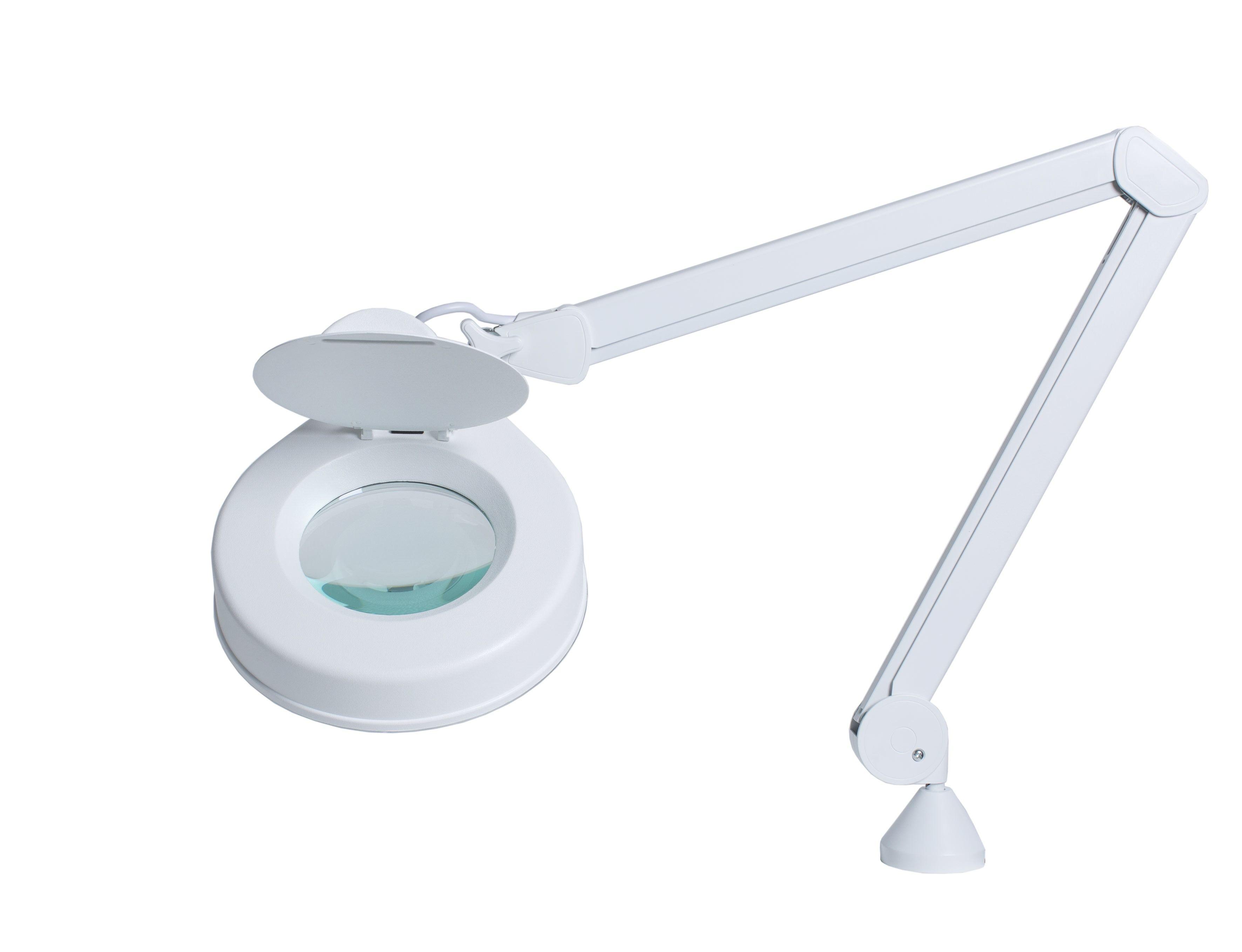 Luminaria con lente de aumento Lupa HF 5 dioptrías